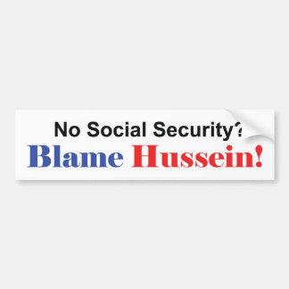 No Social Security Bumper Sticker