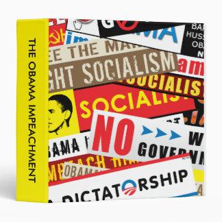 No Socialist Propaganda 3 Ring Binder
