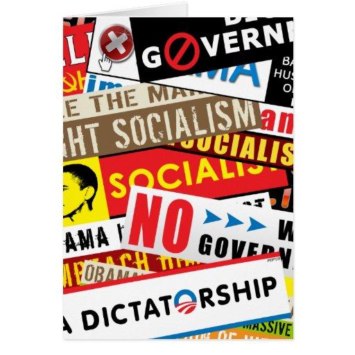 No Socialist Propaganda Card