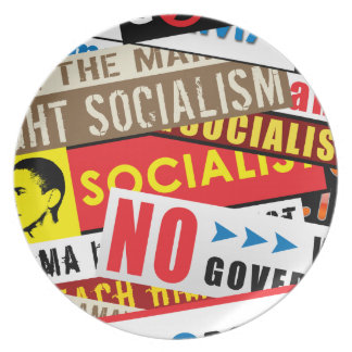 No Socialist Propaganda Plate