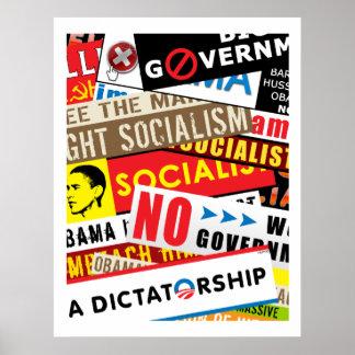 No Socialist Propaganda Poster