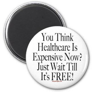 No Socialized Medicine Button 2 Inch Round Magnet