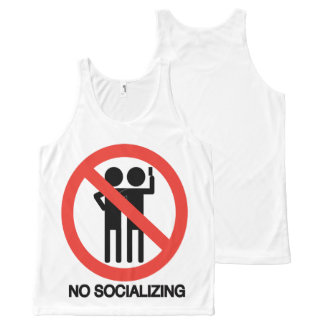 NO socializing All-Over-Print Tank Top