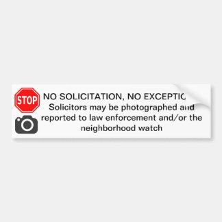 NO SOLICITATION DOOR STICKER SIGN DETER SOLICITORS