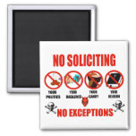 No Soliciting 2 Inch Square Magnet