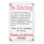 "No Soliciting 4x6"" Magnet at Zazzle"