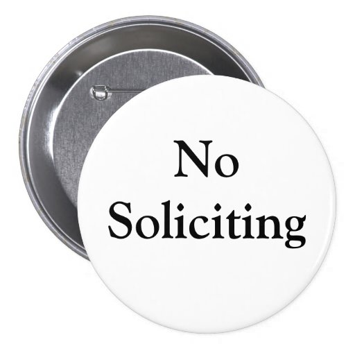 No Soliciting Button