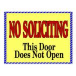 No Soliciting, Door does not open Postcard