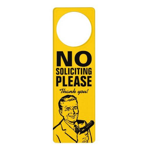No Soliciting Door Hanger Zazzle