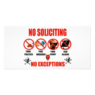 No Soliciting Photo Card Template