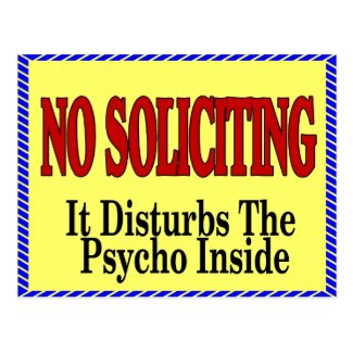 No Soliciting, Psycho Inside