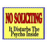 No Soliciting, Psycho Inside Postcard
