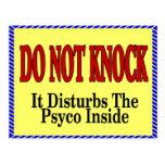 No Soliciting, Psyco Inside Postcards