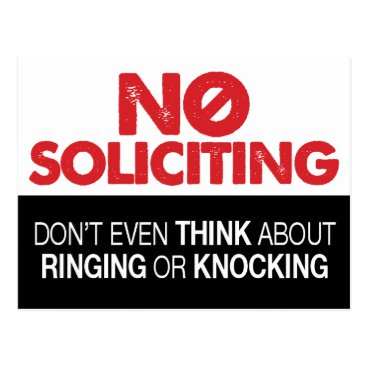 creativetaylor No Soliciting Sign - Don't Ring or Knock Postcard