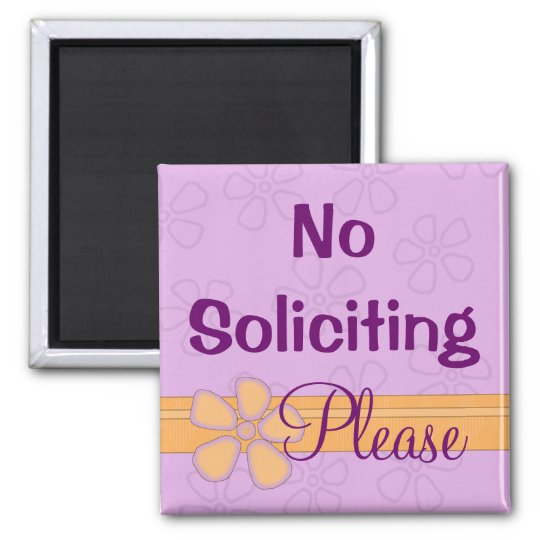 No Soliciting Sign Front Door Magnet Zazzle