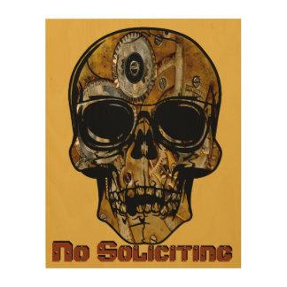 No Soliciting Skull Sign