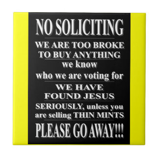 NO SOLICITING TILE