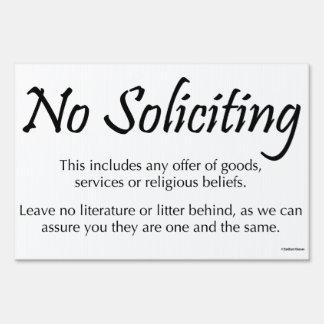 No Soliciting Yard Sign