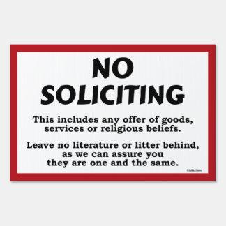 No Soliciting Yard Sign - bold