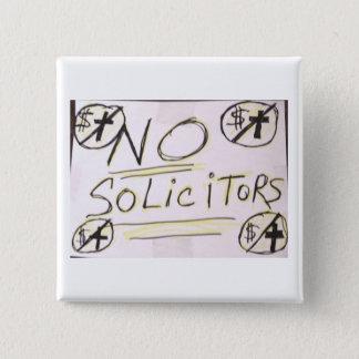No Solicitors Lapel Button