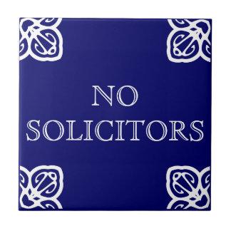 No Solicitors Sign Small Square Tile