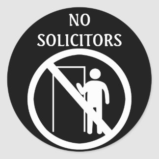 No Solicitors Stickers