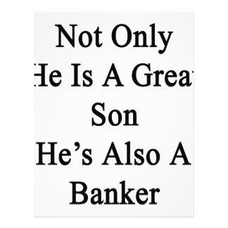 No sólo él es un gran hijo que él es también un membrete