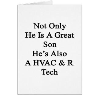 No sólo él es un gran hijo que él es también una tarjeta pequeña