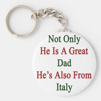 No sólo él es un gran papá que él es también de llavero redondo tipo pin