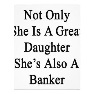 No sólo ella es una gran hija que ella es también membretes personalizados