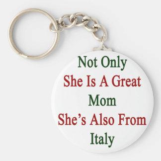 No sólo ella es una gran mamá que ella es también llavero redondo tipo pin