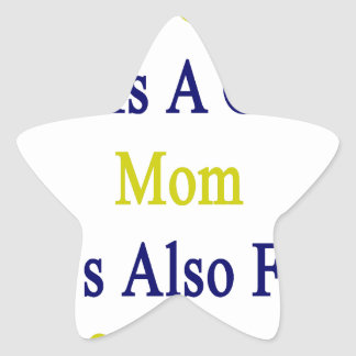 No sólo ella es una gran mamá que ella es también pegatina en forma de estrella