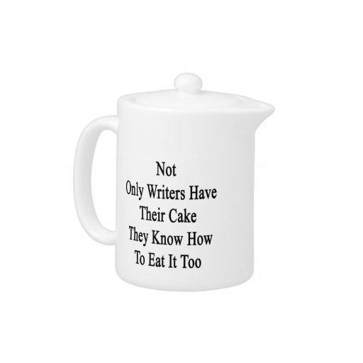 No sólo los escritores tienen su torta que saben a