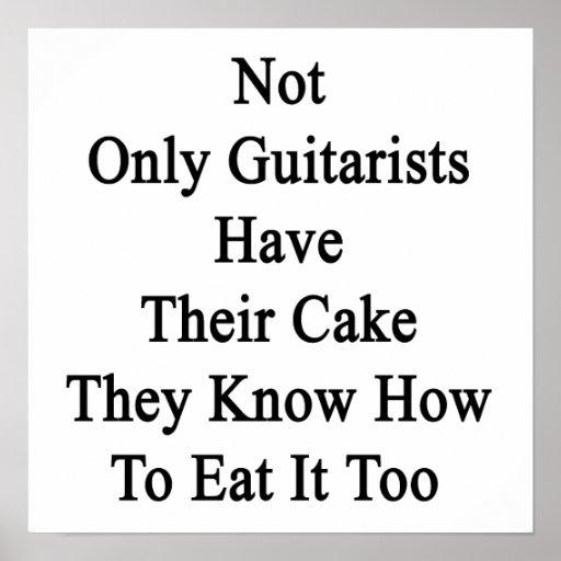 No sólo los guitarristas tienen su torta que saben impresiones