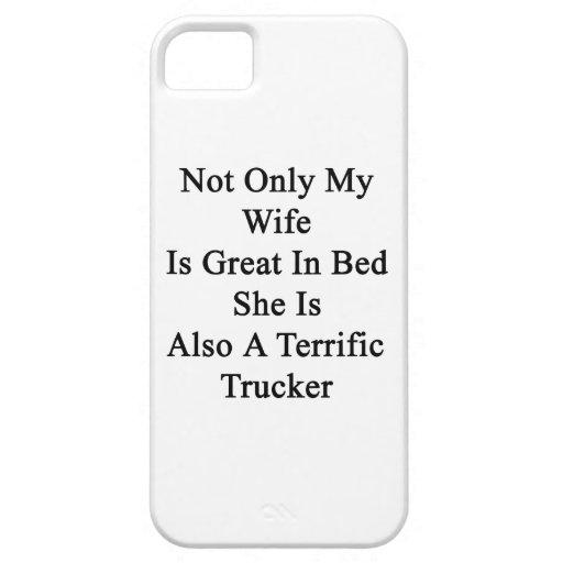 No sólo mi esposa es grande en cama que ella es ta iPhone 5 fundas