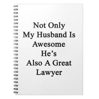 No sólo mi marido es impresionante él es también libreta espiral