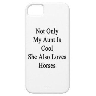 No sólo mi tía Is Cool She Also ama caballos Funda Para iPhone SE/5/5s