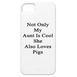 No sólo mi tía Is Cool She Also ama cerdos Funda Para iPhone SE/5/5s