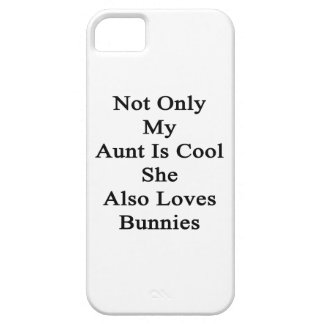No sólo mi tía Is Cool She Also ama conejitos Funda Para iPhone SE/5/5s