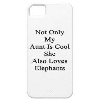 No sólo mi tía Is Cool She Also ama elefantes Funda Para iPhone SE/5/5s