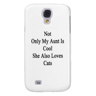 No sólo mi tía Is Cool She Also ama gatos Funda Para Galaxy S4