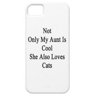 No sólo mi tía Is Cool She Also ama gatos Funda Para iPhone SE/5/5s