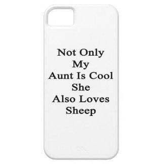 No sólo mi tía Is Cool She Also ama ovejas Funda Para iPhone SE/5/5s