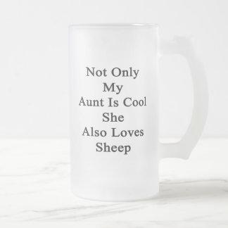 No sólo mi tía Is Cool She Also ama ovejas Taza De Cristal