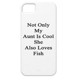 No sólo mi tía Is Cool She Also ama pescados Funda Para iPhone SE/5/5s