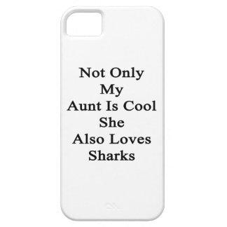 No sólo mi tía Is Cool She Also ama tiburones Funda Para iPhone SE/5/5s