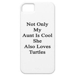 No sólo mi tía Is Cool She Also ama tortugas Funda Para iPhone SE/5/5s