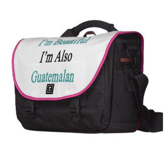 No sólo soy hermoso yo soy también guatemalteco bolsas de ordenador