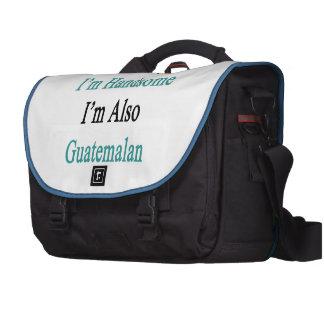 No sólo soy hermoso yo soy también guatemalteco bolsas de portatil
