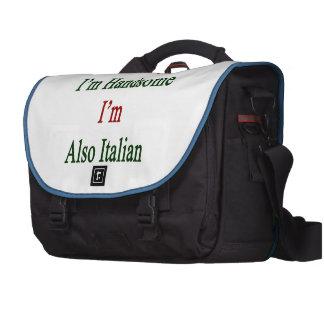 No sólo soy hermoso yo soy también italiano bolsa de ordenador